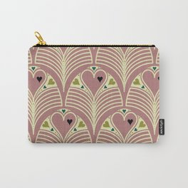 Heart Deco in Mauve Carry-All Pouch