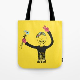 Peace Is Awesome Tote Bag