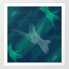 Flight of the Hummingbird Art Print