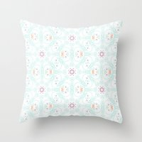 doodle Throw Pillows featuring Doodle by Truly Juel