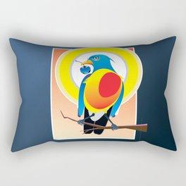 Bird Eye Blue Glass Cherry Rectangular Pillow