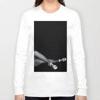 legs Long Sleeve T-shirts featuring Legs by Art by Jolene