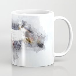 Person Playing Electric Bass Guitar in watercolor style Coffee Mug