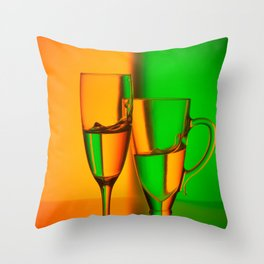 Still life with two glasses Throw Pillow