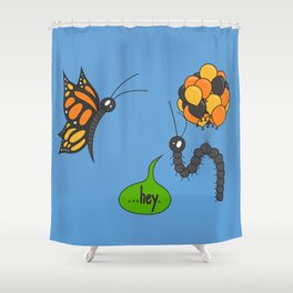 A Bug Ahead of Its Time Shower Curtain