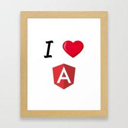 I love Angular - I Love Angular Js Framed Art Print