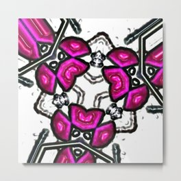 Pink Subatomic Metal Print