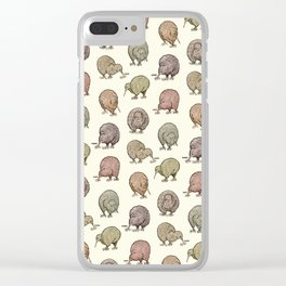 Hungry Kiwis – Cool Earth Tones Clear iPhone Case
