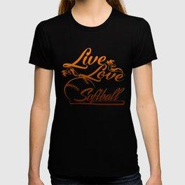 LIVE - LOVE - SOFTBALL T-shirt