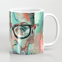 Fierce Woman - Ruth Bader Ginsburg Art Portrait - Sharon Cummings Coffee Mug