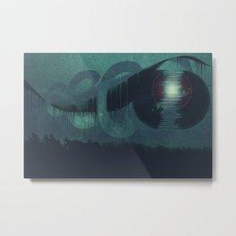 Drip Moon Metal Print