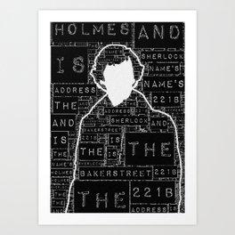 Sherlock BBC: Type Art Print