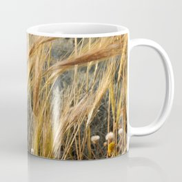 Wild grass in the wind by the sea Coffee Mug