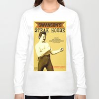 parks and rec Long Sleeve T-shirts featuring Ron Swanson  |  Steak House Parody |  Parks and Recreation by Silvio Ledbetter