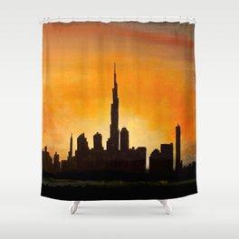 Downtown Dubai Shower Curtain