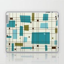 Mid-Century Modern (teal) Laptop & iPad Skin