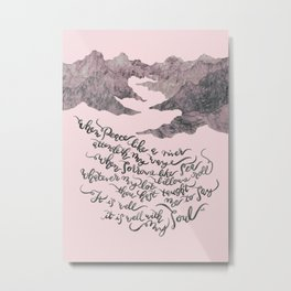 It Is Well With My Soul -pink&grey Metal Print