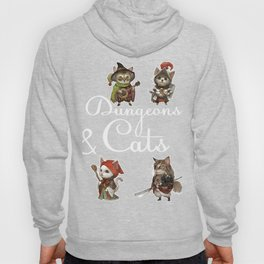 Cats in Dungeons Gift for RPG Gamers and Kitty Fans  Print Hoody