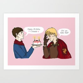 Birthday Merlin Art Print