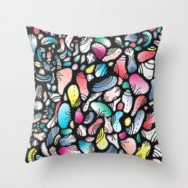 Art Deco Croissants Throw Pillow