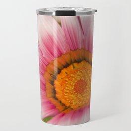 Southern African White ❁ Purple Gazania Flower Travel Mug
