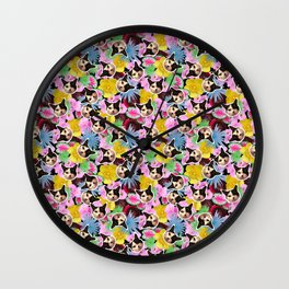 Poppie Cat Wall Clock