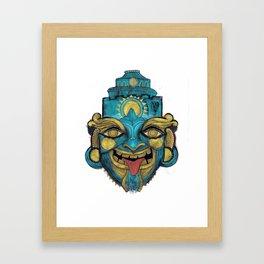 Morpho Mask Framed Art Print