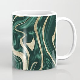 Emerald Green Black Gold Marble #1 #decor #art #society6 Coffee Mug