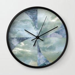 blue grey serendipity day Wall Clock