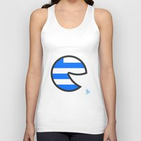 greece Tank Tops featuring Greece Smile by onejyoo