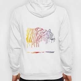 Tiger, abstract color painting on a white background Hoody