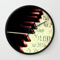 piano Wall Clocks featuring piano by Falko Follert Art-FF77