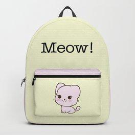Pastel Kitten Kawaii Backpack