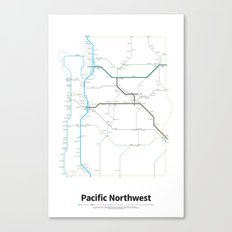 Highways of the USA – Pacific Northwest Canvas Print