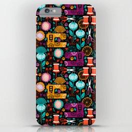 Garden of Sewing Supplies - Black iPhone Case