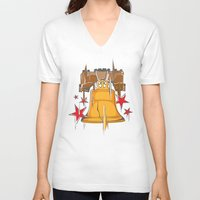 tinker bell V-neck T-shirts featuring Bell by rockwood