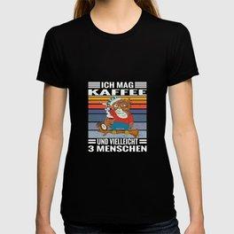 Kaffee Eule Spruch mag Kaffee und 3 Menschen T-shirt