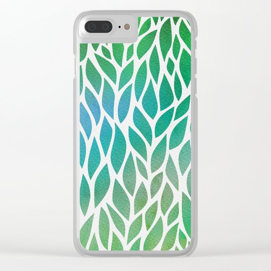 Petals Pattern #2 Clear iPhone Case