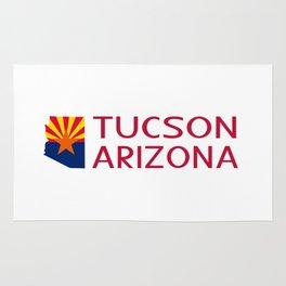 Arizona: Tucson (State Shape & Flag) Rug