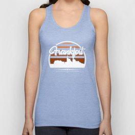 Retro Frankfort Kentucky Sunset Skyline Unisex Tank Top