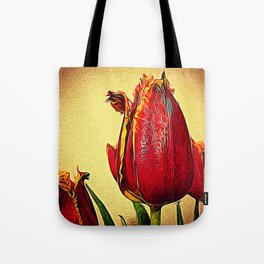 Frilly Tulips Tote Bag