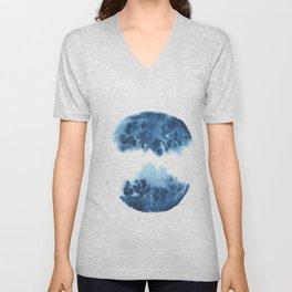 Watercolor Circle Abstract Simple | Blue Blob May 29 Unisex V-Neck