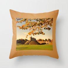 Cardiff Castle Throw Pillow
