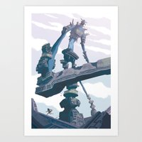 shadow of the colossus Art Prints featuring Shadow of the Colossus  by Felo
