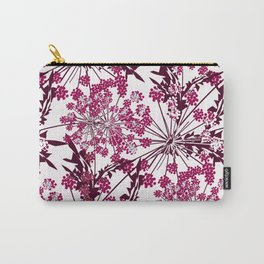 Laced crimson flowers on a white background. Carry-All Pouch