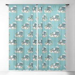 Sailor Octopus Sheer Curtain