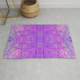 Abstract Hot Pink and Purple Branches 053 Rug