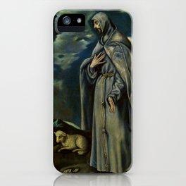 "El Greco (Domenikos Theotokopoulos) ""Saint John the Baptist and Saint Francis of Assisi"" iPhone Case"