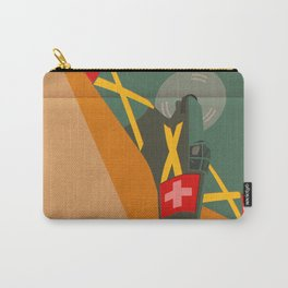 Swiss airplane poster, vintage D3801, ShreddyStudio Dennis Weber Carry-All Pouch