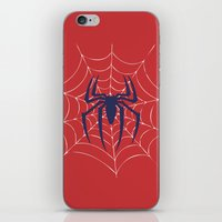 spider iPhone & iPod Skins featuring Spider by Vickn